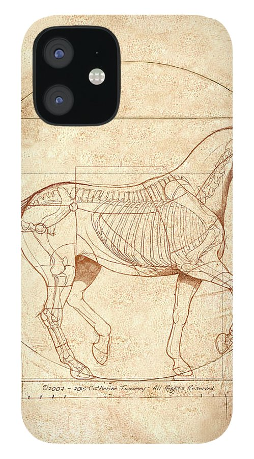 Equine iPhone 12 Case featuring the painting da Vinci Horse in Piaffe by Catherine Twomey