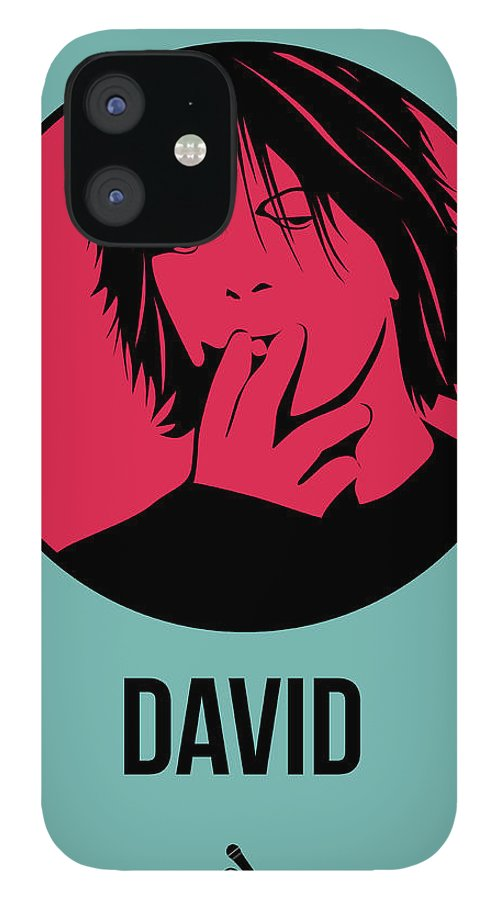 Music IPhone 12 Case featuring the digital art David Poster 3 by Naxart Studio