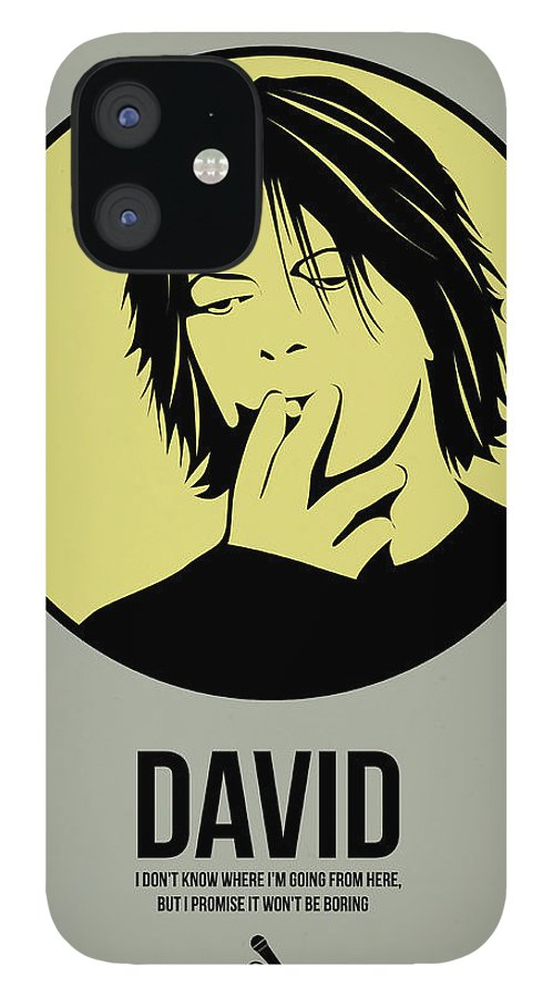 Music IPhone 12 Case featuring the digital art David Poster 4 by Naxart Studio