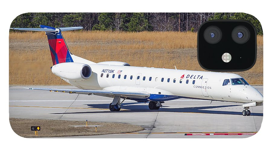 IPhone 12 Case featuring the photograph Delta Airlines ERJ-145LR by Richard Jack-James