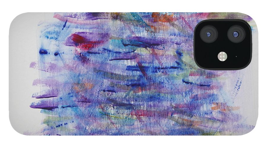Depression IPhone 12 Case featuring the painting Depression by Tom Atkins