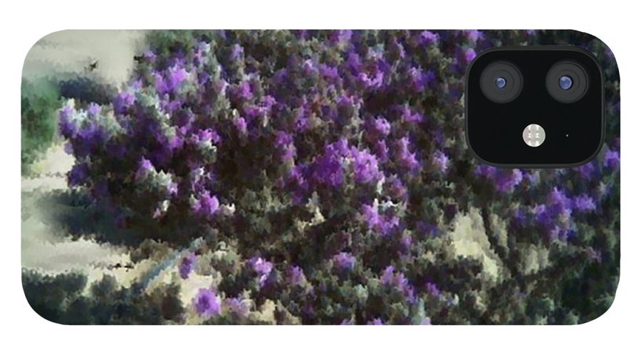 Landscape IPhone 12 Case featuring the digital art Desert flowers by Dr Loifer Vladimir