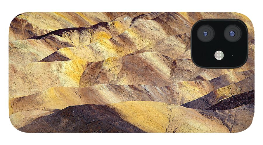 Zabriskie Point IPhone 12 Case featuring the photograph Desert Undulations by Mike Dawson