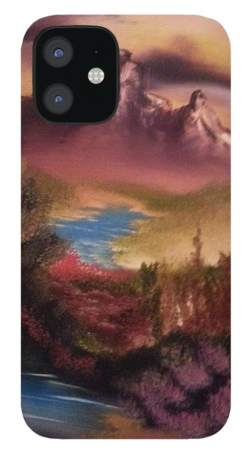 Desert iPhone 12 Case featuring the painting Desert View by Bryan Perry