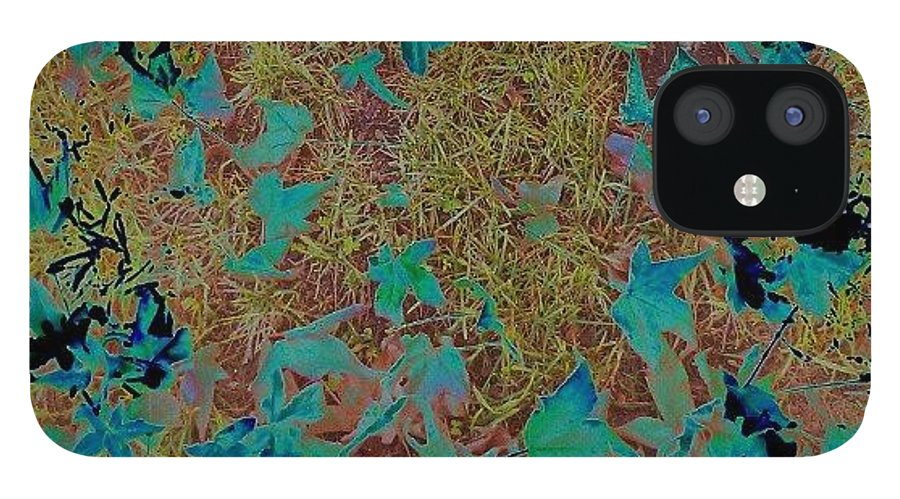 Abstract IPhone 12 Case featuring the photograph Digital Fall by CML Brown