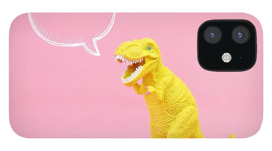Animal IPhone 12 Case featuring the photograph Dinosaur Rawr by Juj Winn