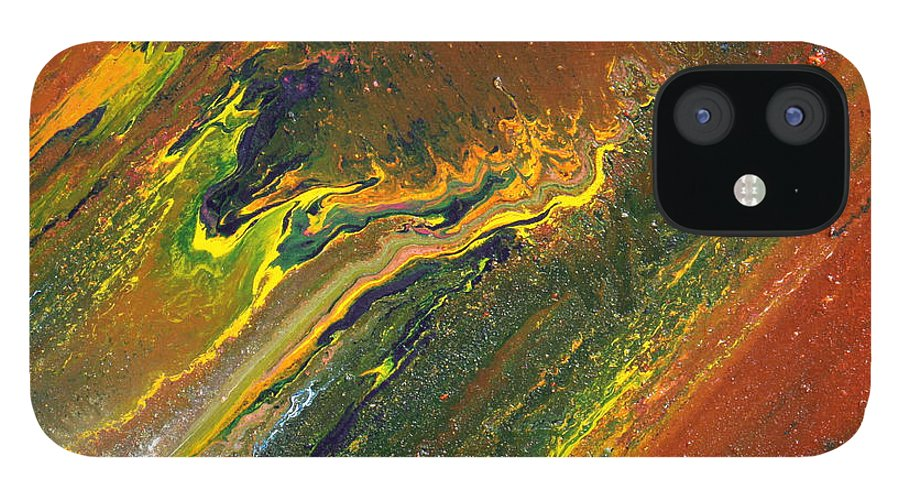 Fusionart IPhone 12 Case featuring the painting Distance by Ralph White