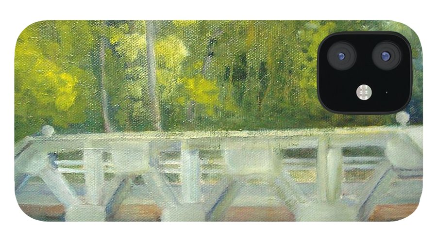 Smithville Park IPhone 12 Case featuring the painting Do You Paint Fish? by Sheila Mashaw