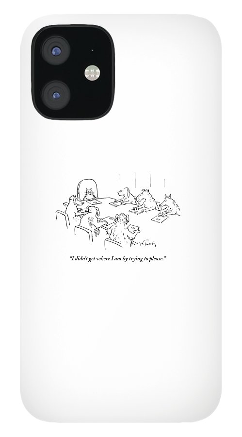 Dogs At A Meeting IPhone 12 Case