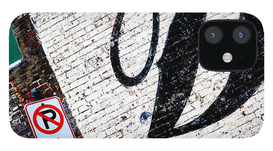 Brick Walls IPhone 12 Case featuring the photograph DON'T park by Leon Hollins III