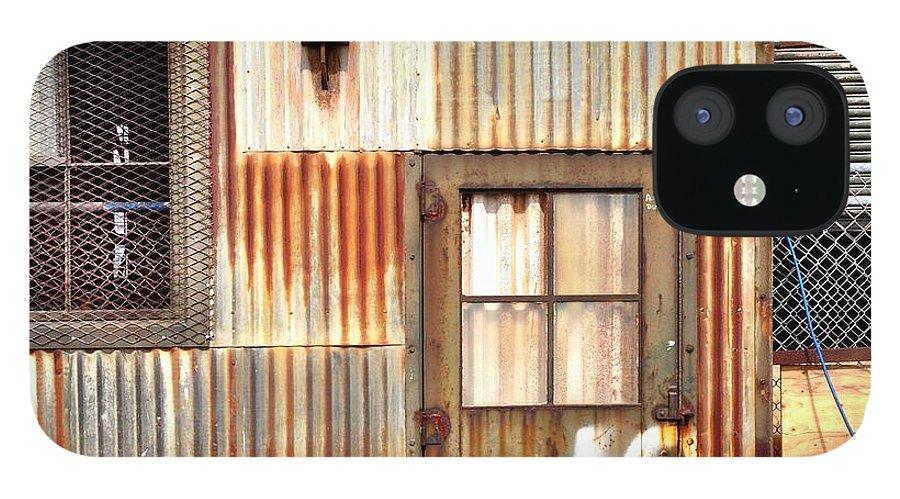Rust IPhone 12 Case featuring the photograph Door Number 10 by Julie Gebhardt