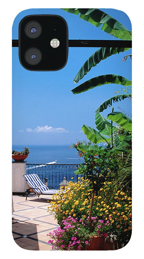 Tranquility IPhone 12 Case featuring the photograph Doorway To Terrace At Hotel Punta by Dallas Stribley