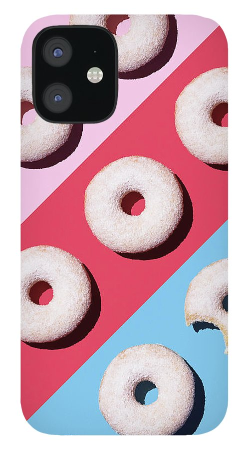 Shadow IPhone 12 Case featuring the digital art Doughnuts On Colourful Background by Westend61