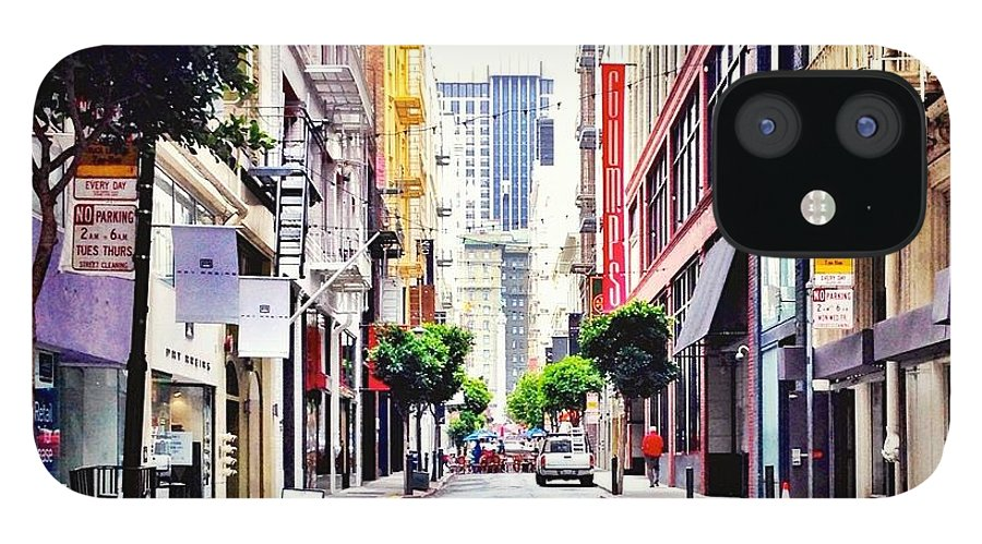 Street Scene IPhone 12 Case featuring the photograph Downtown by Julie Gebhardt
