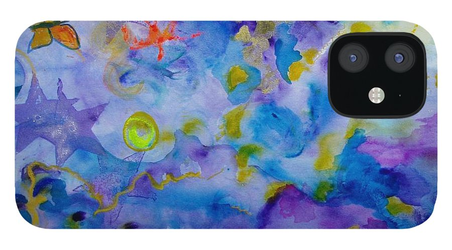 Watercolor IPhone 12 Case featuring the painting Dreams by Phoenix Simpson