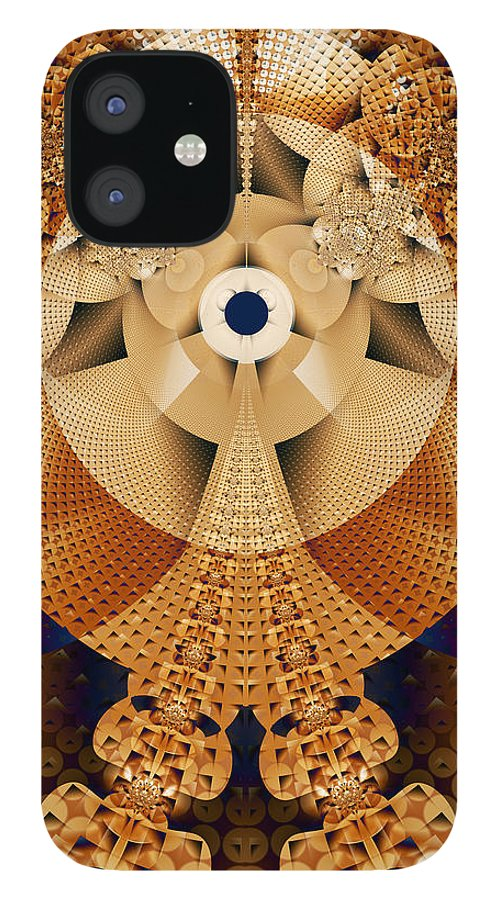 Earth IPhone 12 Case featuring the digital art Earth Mosaic by Frederic Durville
