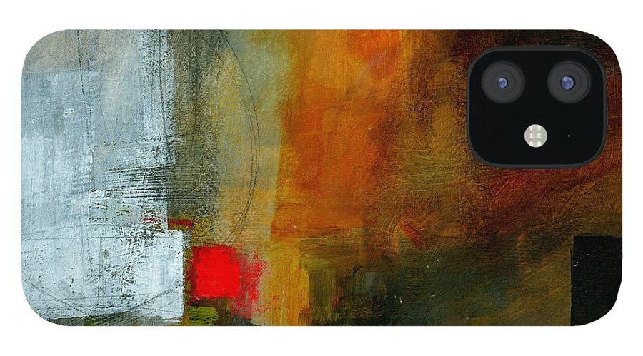 Acrylic iPhone 12 Case featuring the painting Edge Location 3 by Jane Davies