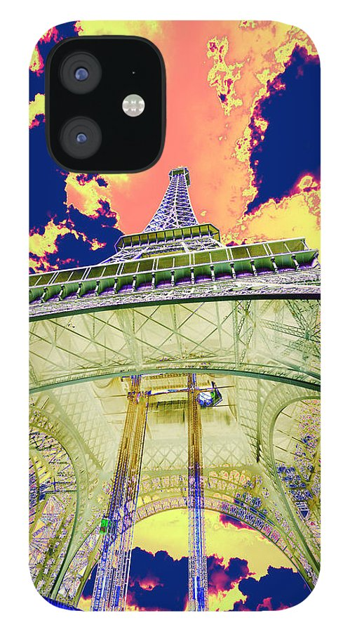 Cruise 2013 IPhone 12 Case featuring the photograph Eiffel Tower Psycho Version by Richard Henne