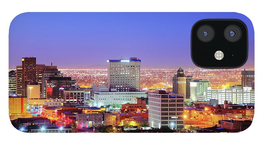 Downtown District IPhone 12 Case featuring the photograph El Paso by Denistangneyjr