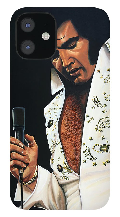 Elvis IPhone 12 Case featuring the painting Elvis Presley Painting by Paul Meijering