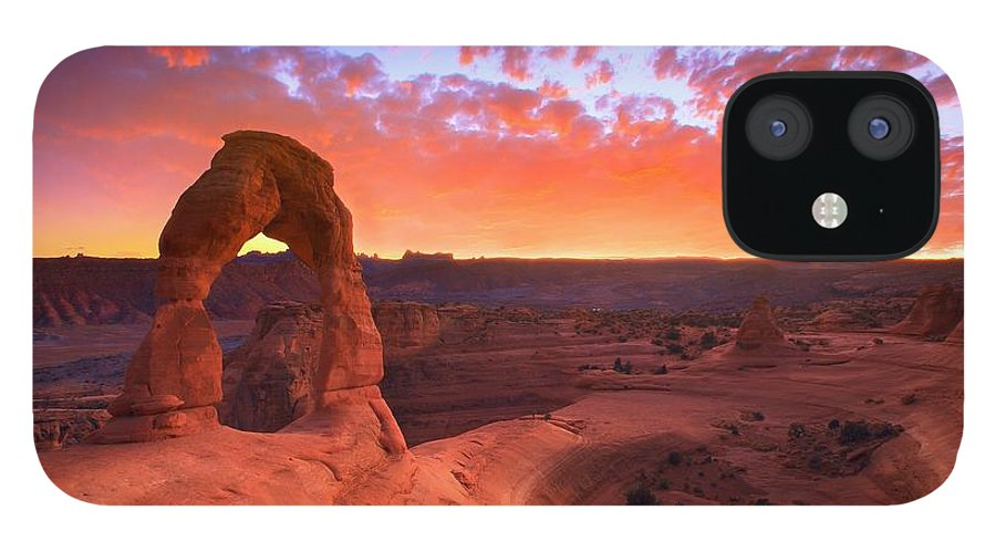 America IPhone 12 Case featuring the photograph Famous Sunset by Kadek Susanto