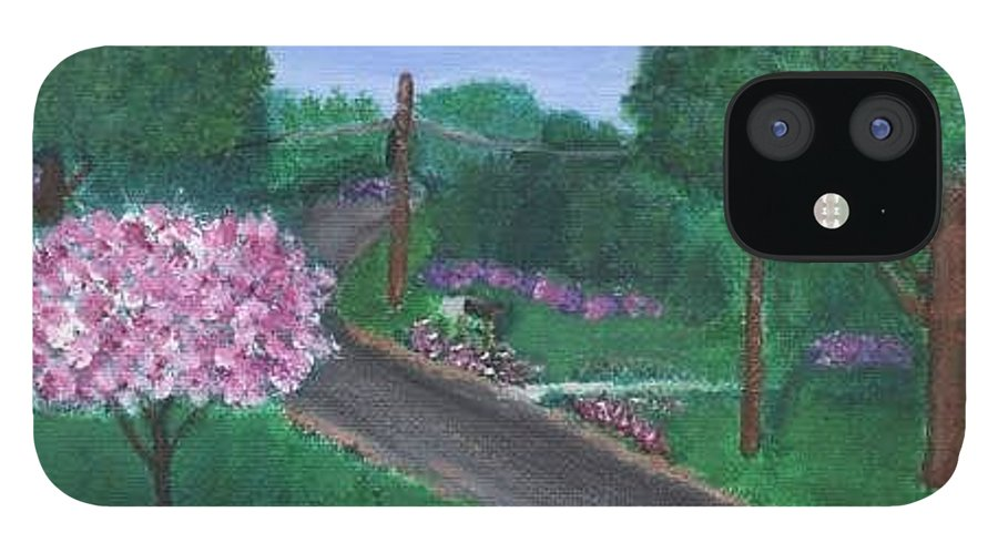 Plein Aire IPhone 12 Case featuring the painting Fellowship by Sheila Mashaw