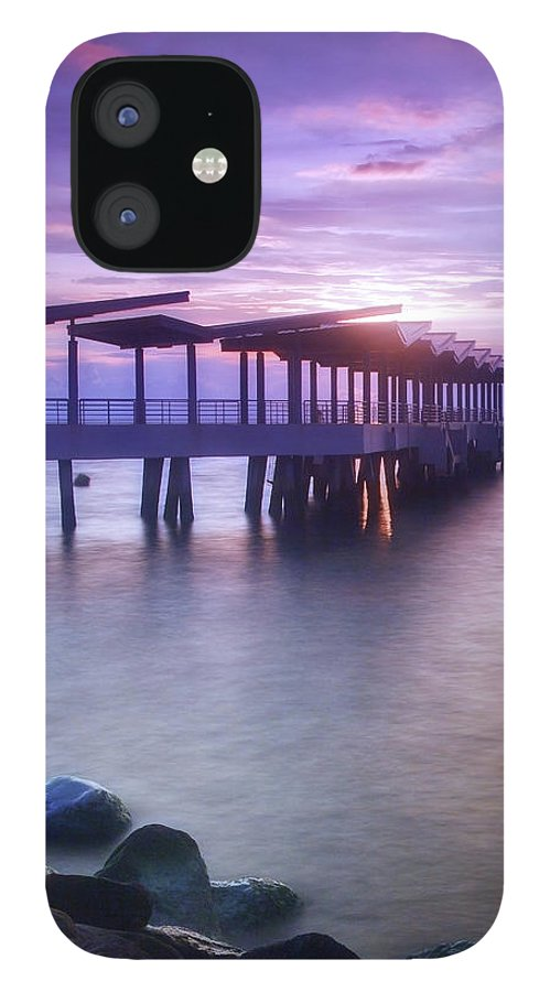 Scenics IPhone 12 Case featuring the photograph Ferry Station by Melv Pulayan