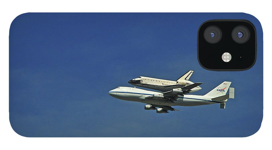 Teamwork iPhone 12 Case featuring the photograph Final Flight Of The Space Shuttle by Mitch Diamond
