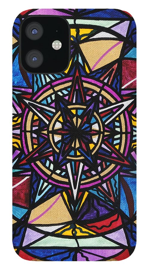 Financial Freedom IPhone 12 Case featuring the painting Financial Freedom by Teal Eye Print Store