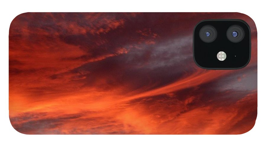 Sunset IPhone 12 Case featuring the photograph Fire in the Sky by Julia Walsh