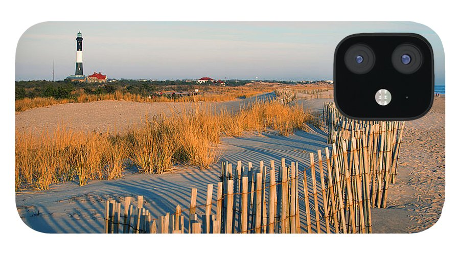 Shadow IPhone 12 Case featuring the photograph Fire Island Lighthouse, Long Island, Ny by Rudi Von Briel