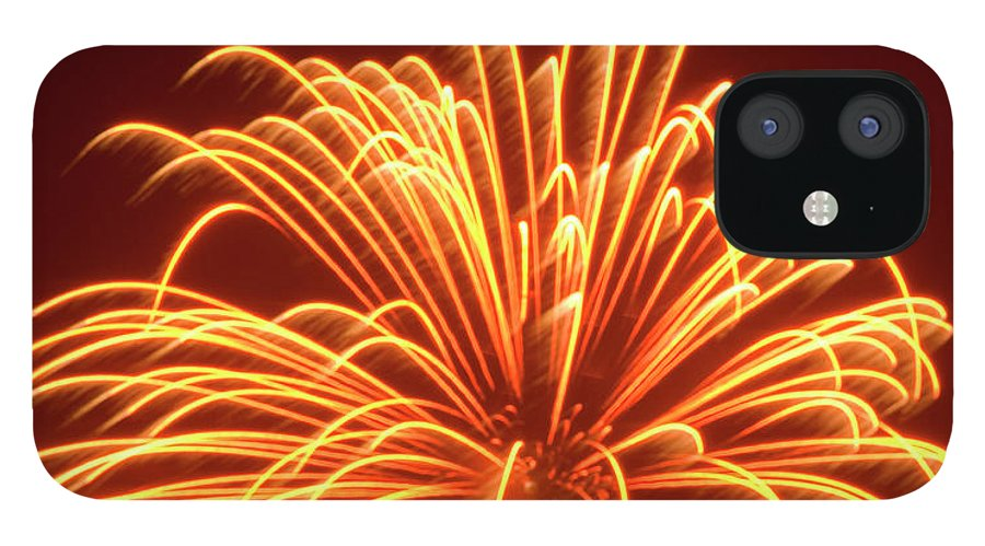 Orange Color IPhone 12 Case featuring the photograph Fireworks by Dennis Mccoleman