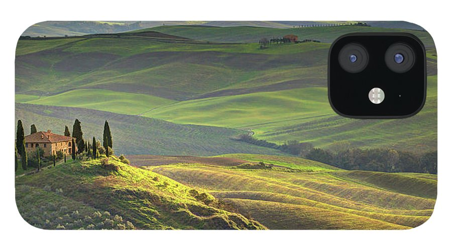 Scenics IPhone 12 Case featuring the photograph First Light In Tuscany by Maurice Ford