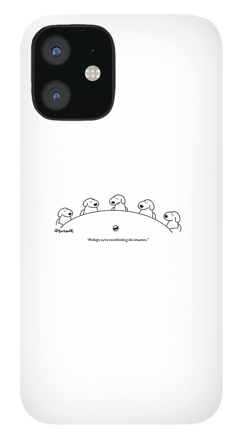 Five Dogs Sitting Around A Roundtable IPhone 12 Case