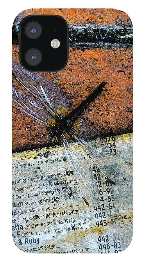 Dragonfly IPhone 12 Case featuring the photograph FlightPage by Leon Hollins III