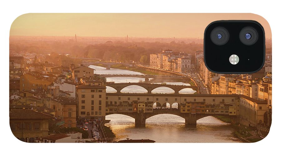 Campanile IPhone 12 Case featuring the photograph Florence City During Golden Sunset by Dragos Cosmin Photos