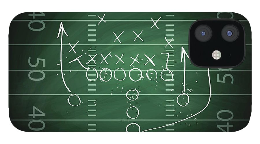 Plan IPhone 12 Case featuring the digital art Football Play by Traffic analyzer