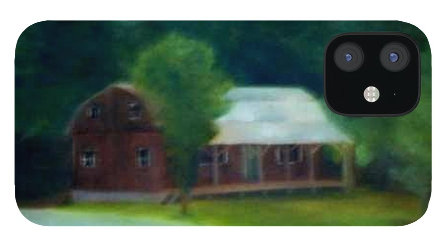 Upstate IPhone 12 Case featuring the painting Forrest's House by Sheila Mashaw