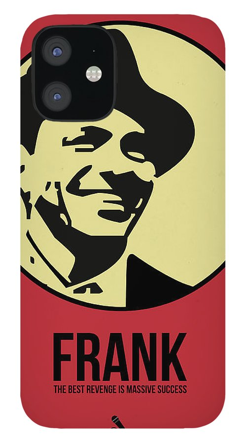 Music IPhone 12 Case featuring the digital art Frank Poster 2 by Naxart Studio
