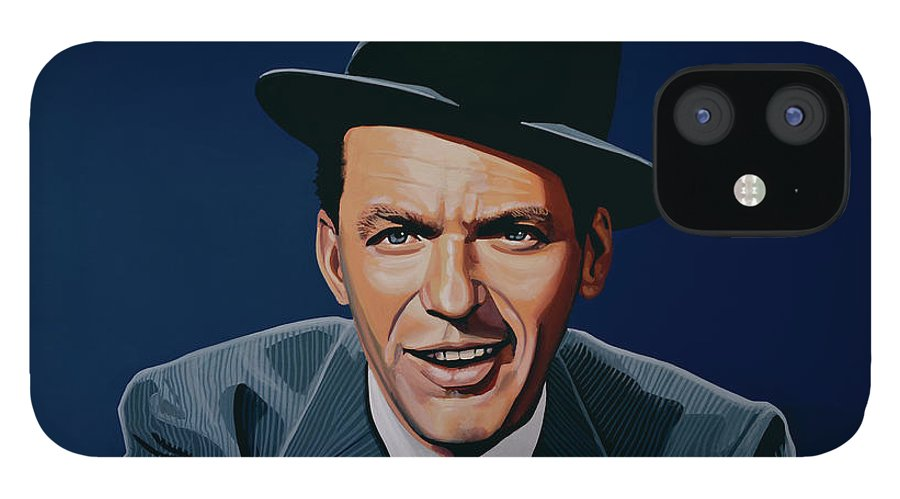 Frank Sinatra IPhone 12 Case featuring the painting Frank Sinatra by Paul Meijering