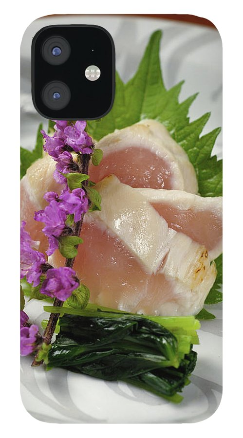 Japanese Food IPhone 12 Case featuring the photograph Fresh Slices Of The Bird Of by Ryouchin