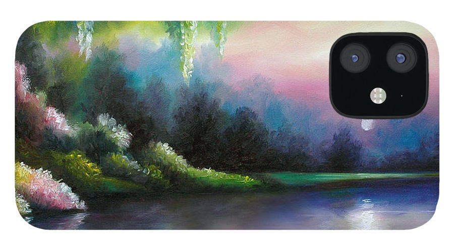 Sunrise IPhone 12 Case featuring the painting Garden of Eden I by James Christopher Hill