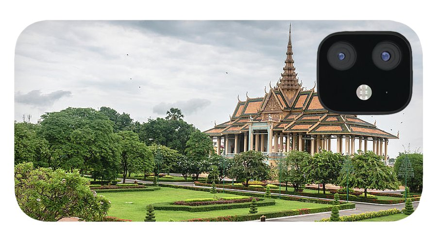 Southeast Asia iPhone 12 Case featuring the photograph Gardens At The Royal Palace In Phnom by Tbradford