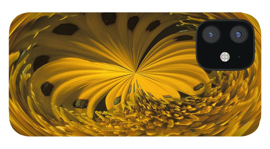 Abstract IPhone 12 Case featuring the photograph Gazania Abstract by Keith Gondron