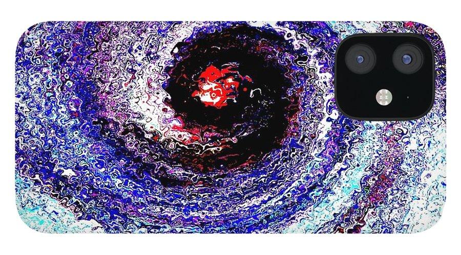 Creation IPhone 12 Case featuring the digital art Genesis by Dr Loifer Vladimir