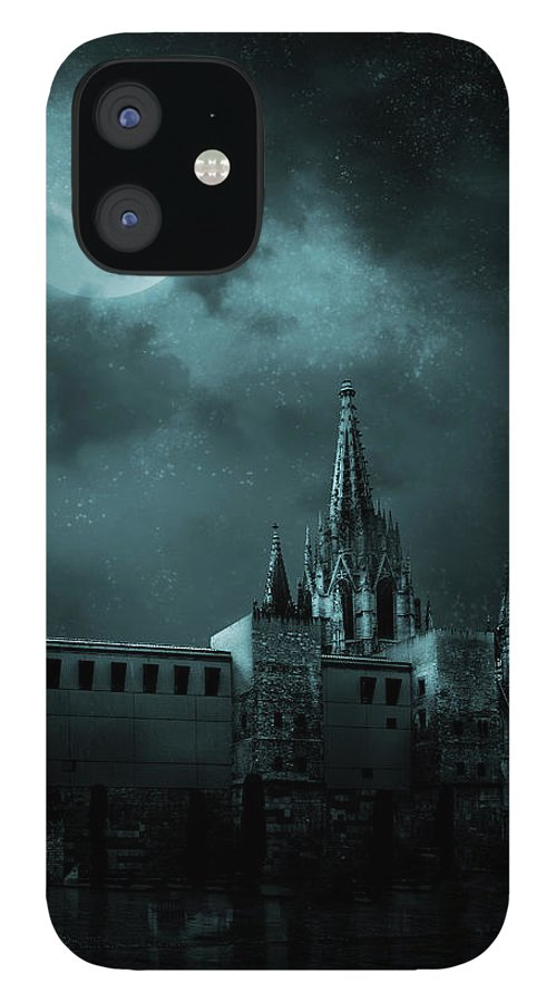 Gothic Style IPhone 12 Case featuring the photograph Ghosts In The Empty Town by Vladgans