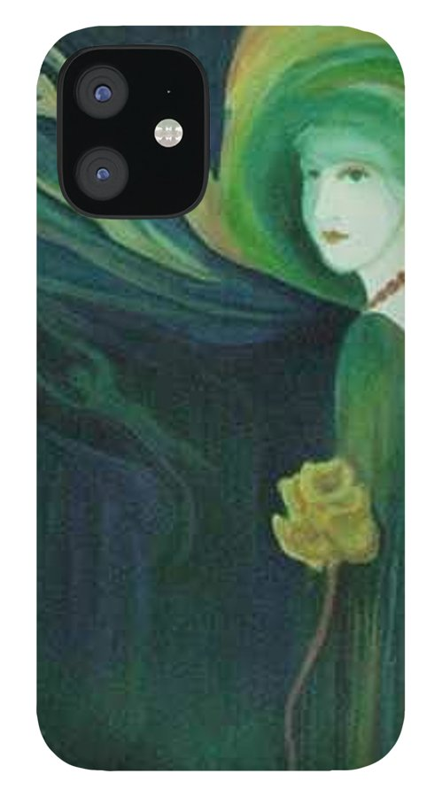 Women IPhone 12 Case featuring the painting My Haunted Past by Carolyn LeGrand