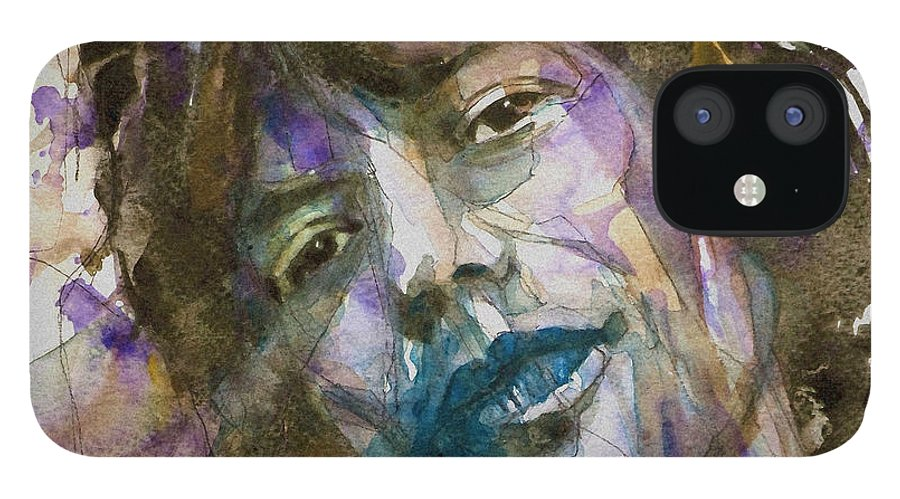 Rolling Stones IPhone 12 Case featuring the painting Gimme Shelter by Paul Lovering