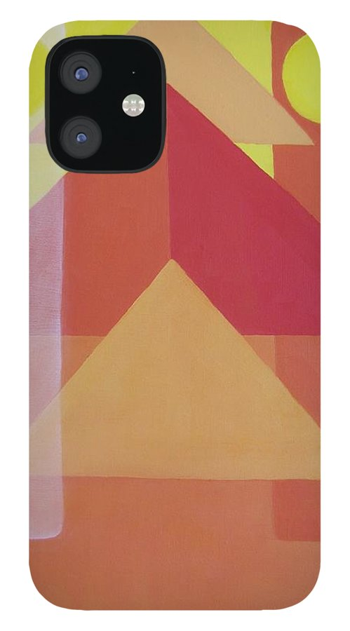 Giza iPhone 12 Case featuring the painting Giza by Michael TMAD Finney AKA MTEE