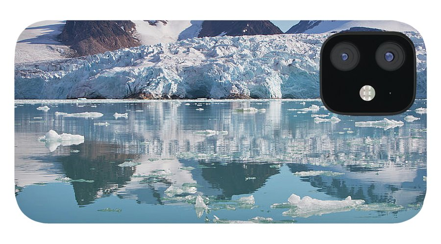 Scenics IPhone 12 Case featuring the photograph Glaciers Tumble Into The Sea In The by Anna Henly